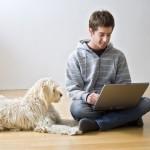 laptopguywithdog